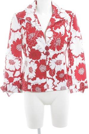 Jersey blazer rood-wit volledige print extravagante stijl