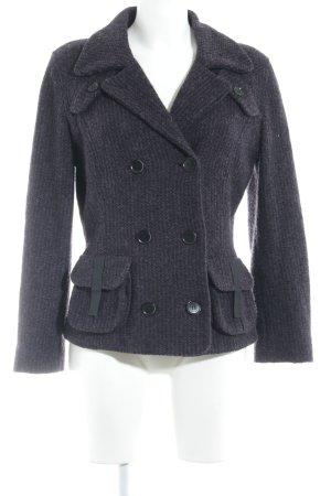 Jersey Blazer negro-violeta oscuro look casual
