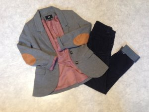 Jerseyblazer von H&M Grau Größe 34
