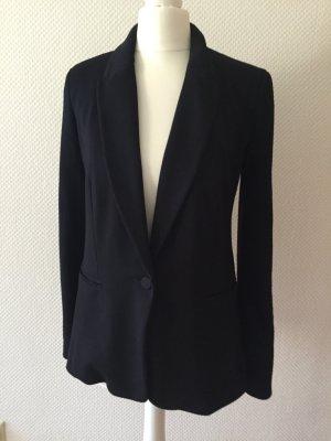 Jerseyjacke Blazer 34 XS Boyfriendstil schwarz