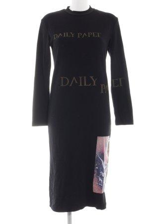 Jerseykleid abstrakter Druck Casual-Look