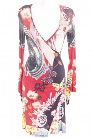 Jersey Dress abstract pattern wrap look
