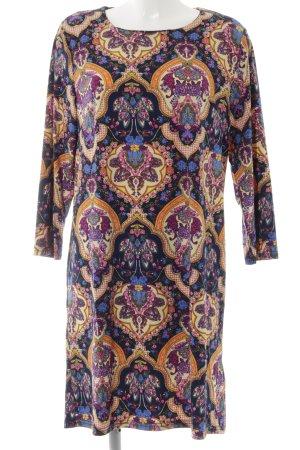 Jerseykleid Blumenmuster extravaganter Stil