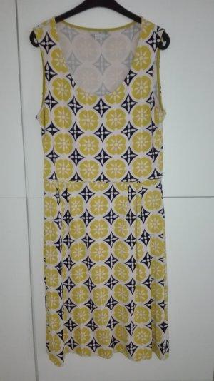 Jerseykleid Boden gelb marine gemustert