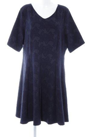 Vestido de tela de jersey azul oscuro estampado floral elegante