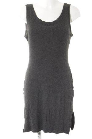 Vestido de tela de jersey gris oscuro look casual