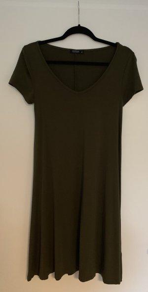 Jerseykleid in dunkelgrün