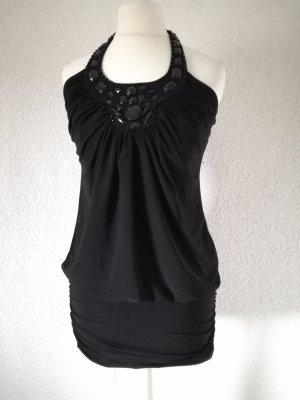 Jerseykleid Longtop Jersey Kleid Minikleid Long Top Neckholder