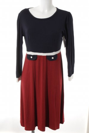 Jersey Dress multicolored navy look
