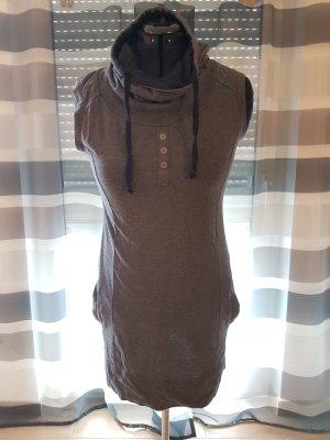Jerseykleid mit abgesetztem Tubekragen