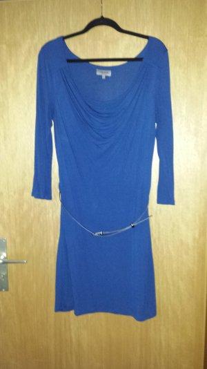 Jerseykleid mit Gürtel royal blau