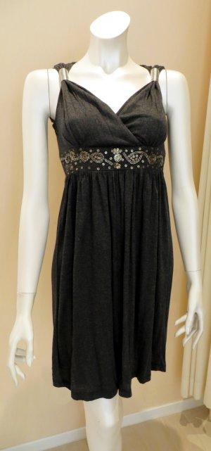 Mini vestido gris antracita Algodón