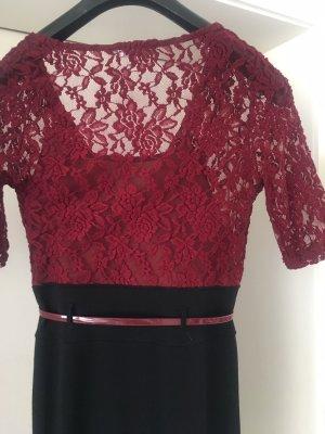 Jerseykleid mit Spitzenoberteil Gr. S