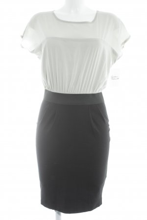 Vestido de tela de jersey negro-gris claro bloques de color estilo «business»