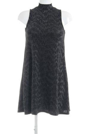 Sparkz Jerseykleid schwarz-silberfarben