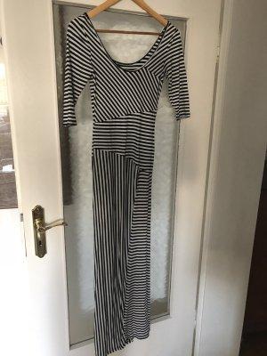 Jerseykleid schwarz/weiß