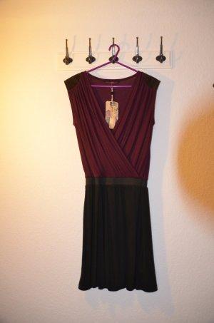 Jerseykleid, Tom Tailor, bordaux/schwarz, ungetragen