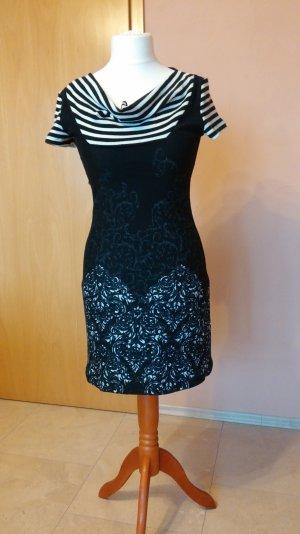 Jerseykleid von Smash schwarz/weiß