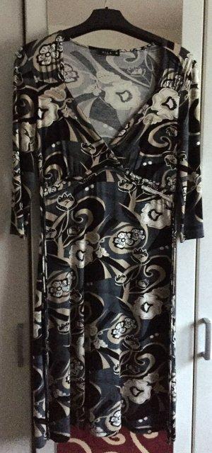 Jerseykleid von Vila, mit Paisley-Print, Beige/Grau/Schwarz, neu, Größe M (= 40)