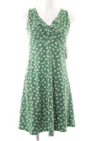 Jerseyjurk wit-groen volledige print casual uitstraling