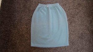 Falda de tubo verde claro tejido mezclado