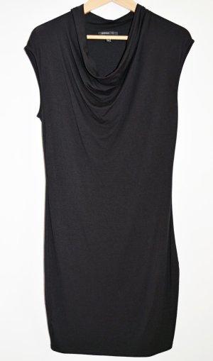 Jerseyykleid mit Wasserfallausschnitt von MANGO, schwarz, EUR S wie 36