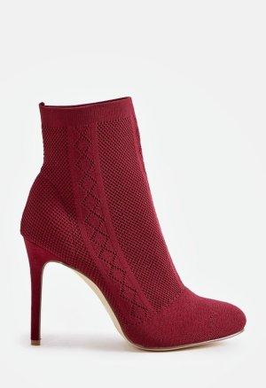 Just Fab Botines rojo oscuro-carmín