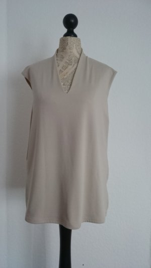 Yessica Tunic sand brown-cream synthetic fibre