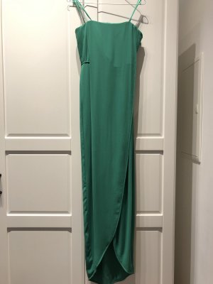 Jesse Draped Strapless Gown in grün