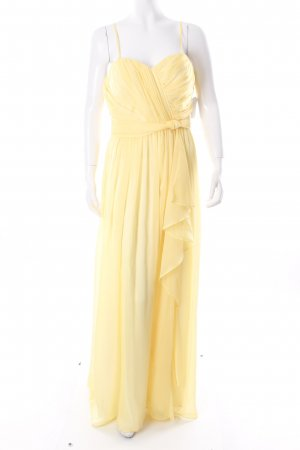 Jessica Simpson Abendkleid blassgelb Knoten-Detail