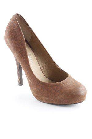 Jessica Simpson High Heels braun-dunkelbraun Animalmuster Elegant