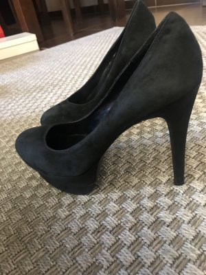 Jessica Simpson Pleateau Pumps schwarz 41 Velours Wildleder