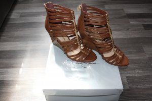 Jessica Simpson Strapped High-Heeled Sandals multicolored leather
