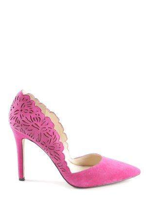 Jessica Simpson Spitz-Pumps magenta florales Muster Elegant