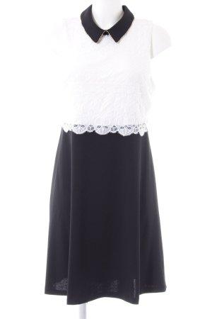 Jessica Simpson Spitzenkleid schwarz-weiß Elegant