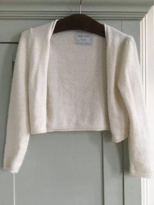 Bolero natural white-white angora wool
