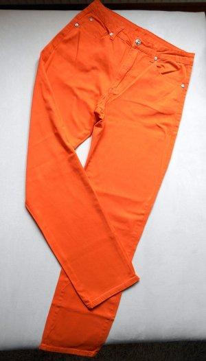 JET LINE Jeans Orange Gr. 38 / L 30 grades Bein Neu