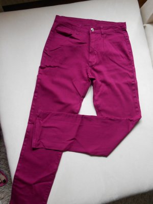 Stretch Jeans magenta cotton