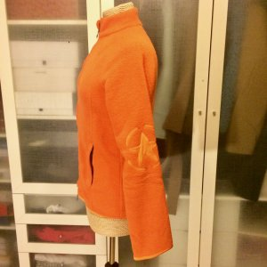Jet Set Fleece Jacke Gr. 38 orange Ski