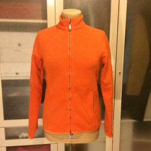 Jet Set Fleece Jacke orange mit Stern Gr. 38 top