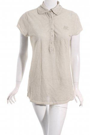 Jet Set Polo-Shirt beige Street-Fashion-Look