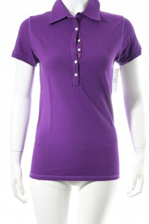 Jet Set Polo-Shirt lila schlichter Stil
