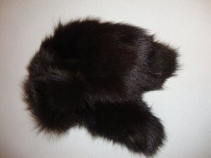 Jet Set Fur Hat black brown