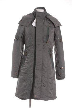 Jetlag Wintermantel graublau-bronzefarben Casual-Look