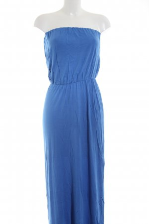 Jette Vestido bandeau azul look casual