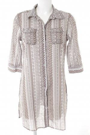 Jette Blouse Dress natural white-light brown mixed pattern beach look