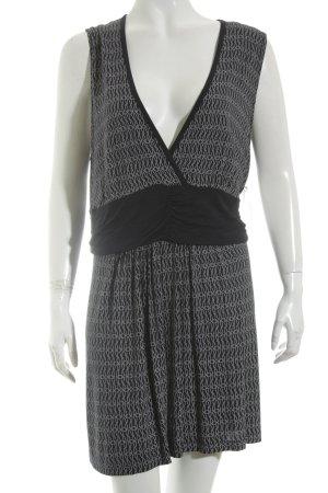 Jette Blouse topje donkerblauw-wit abstract patroon zakelijke stijl