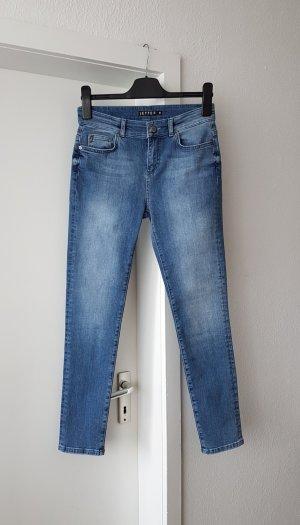 Jette Jeans a 7/8 azzurro-blu pallido Tessuto misto