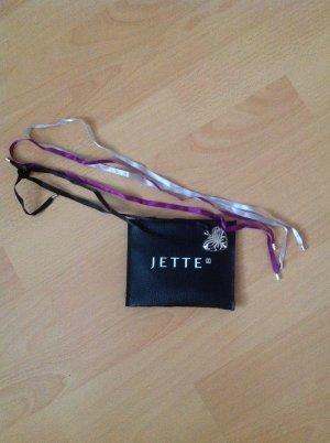 JETTE Herzanhängerkette mit Seidenbändern