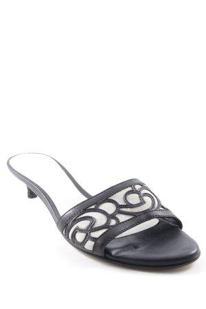Jette High Heel Sandaletten weiß-schwarz schlichter Stil